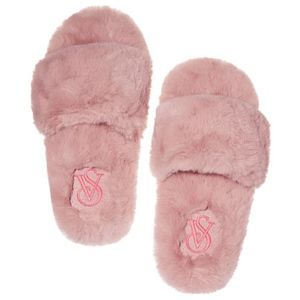 VS Faux Fur Slipper - Color Sugar Rose